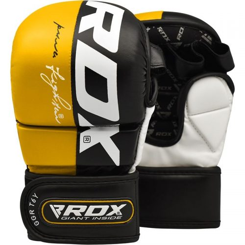 RDX T6 MMA Grappling Gloves Yellow