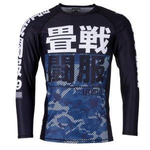 Tatami Essential Camo Blue Long Sleeve Rash Guard