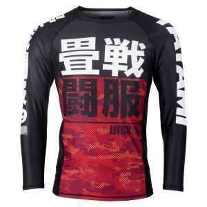 Tatami Kids Essential Red Camo Long Sleeve Rash Guard