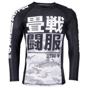 Tatami Kids Essential Camo Long Sleeve Rash Guard White