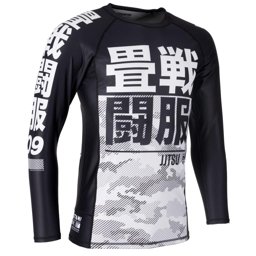 Tatami Kids Essential Camo Rash Guard White Compression BJJ Gym Jiu Jitsu Top