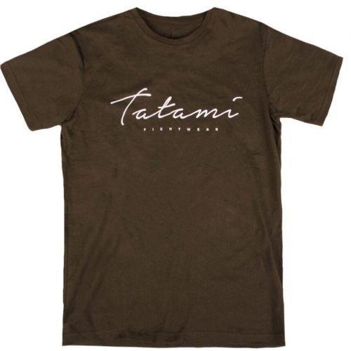 Tatami Script T-Shirt Khaki