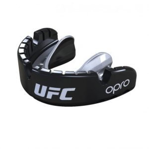OPRO UFC Gen 4 Mouth Guard Gold Level Braces Black