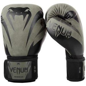 venum impact boxing gloves khaki black