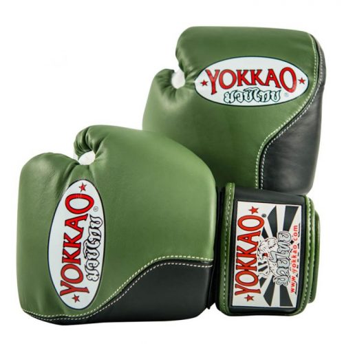 YOKKAO Boxing Gloves Double Impact Khaki Green