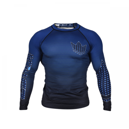 Kingz Crown 3.0 Ranked Rash Guard Long Sleeve Blue