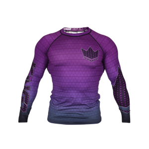 Kingz Crown 3.0 Ranked Rash Guard Long Sleeve Purple