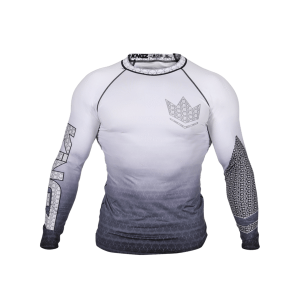 Kingz Crown 3.0 Ranked Rash Guard Long Sleeve White