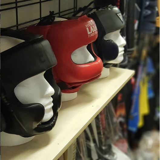 image of boxing head guard