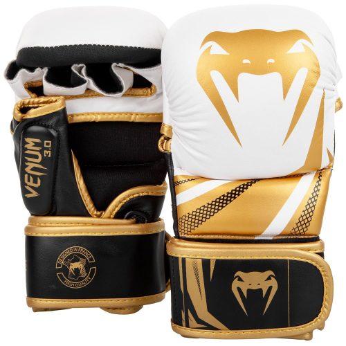 Venum Challenger 3.0 Sparring Gloves White Black Gold