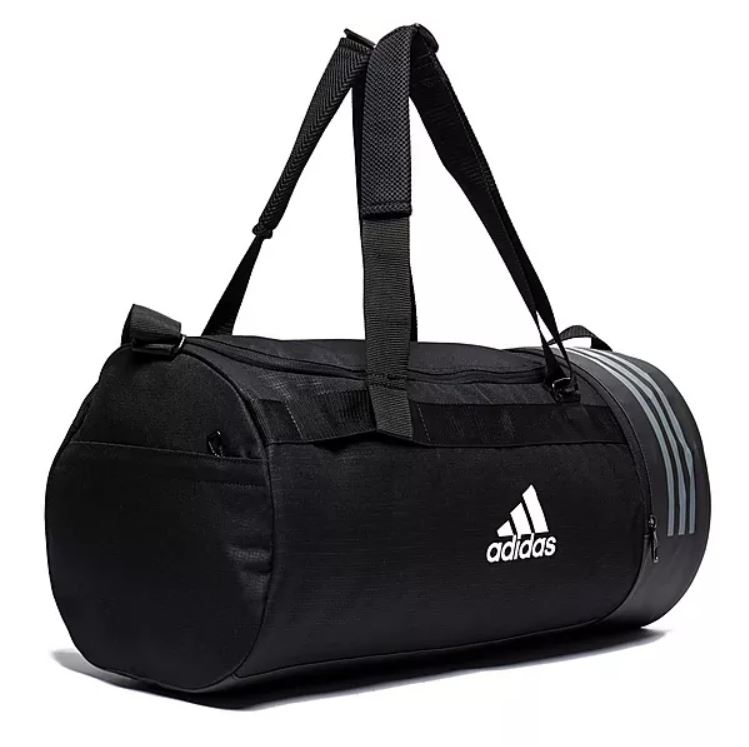 3aecdc329838 Shop. Home » Products » Adidas Convertible 3 Stripes Duffel Bag