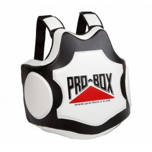 Pro Box Hi Impact Boxing Body Protector Black White