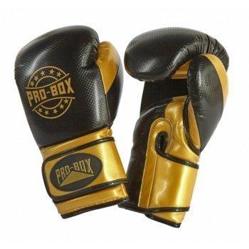 Pro Box Champ Spar Gloves Black Gold