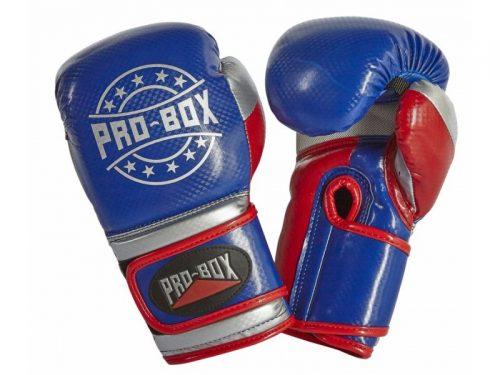 Pro Box Champ Spar Gloves Blue Red Silver