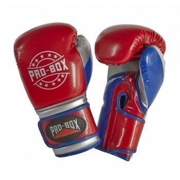 Pro Box Champ Spar Gloves Red Blue Silver