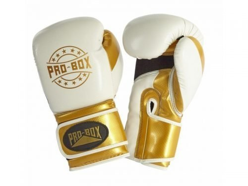Pro Box Champ Spar Gloves White Gold
