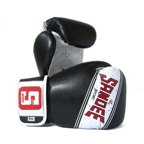 Sandee Sport Boxing Gloves Black White