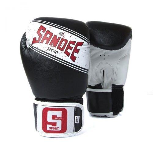 Sandee Sport Boxing Gloves Black White - Sandee Boxing Gloves