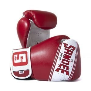 Sandee Sport Boxing Gloves Red White