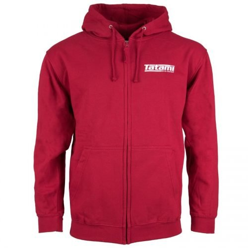 Tatami Basic Zip Up Hoodie Red