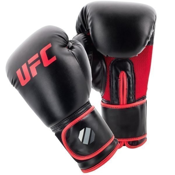 UFC Muay Thai Style Boxing Gloves Black Red