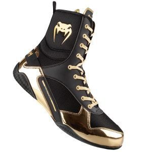 Venum Elite Boxing Shoes Boots Black Gold