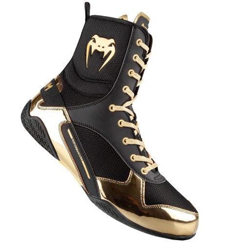 Venum Elite Boxing Shoes Boots Black Gold