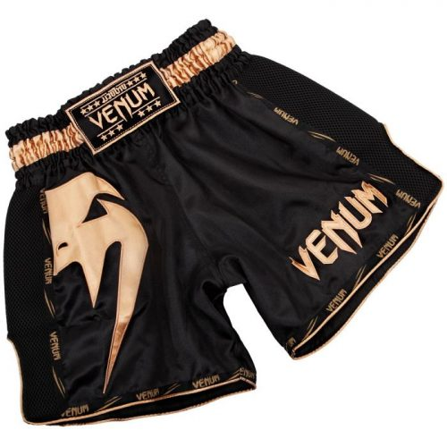 Venum Giant Muay Thai Shorts Black Gold - kickboxing shorts