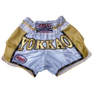 YOKKAO Vegas Carbon Shorts White Gold - yokkao shorts