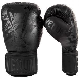 Venum Dragons Flight Boxing Gloves Matte Black