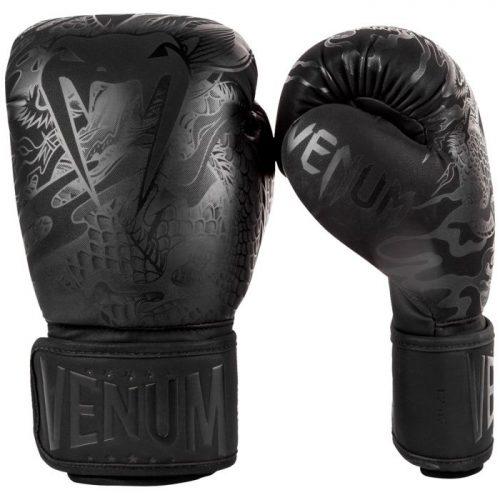 Venum Dragons Flight Boxing Gloves Matte Black
