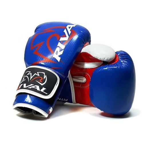 Rival RB7 Fitness Bag Training Boxing Gloves Blue Red White