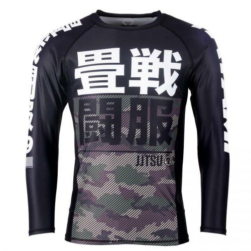 Tatami Essential Camo Green Long Sleeve Rash Guard