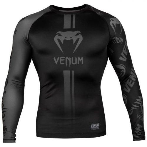 Venum Logos Rash Guard Long Sleeve Black