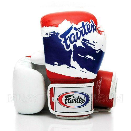 BGV1 Fairtex Boxing Gloves 3-Tone Thai Flag
