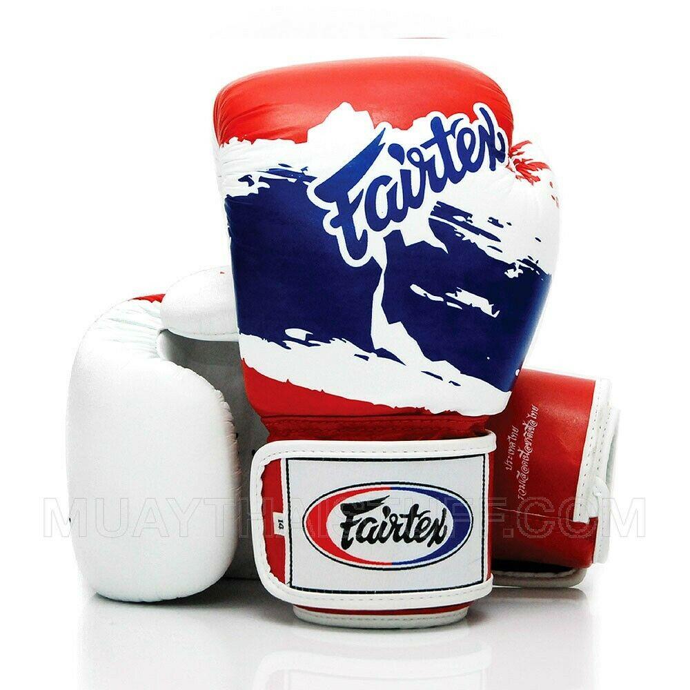 White Fairtex Boxing Gloves 3 Tone