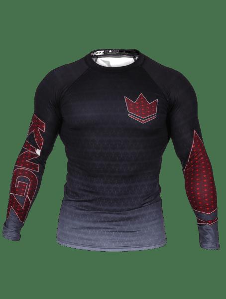 Kingz Crown 3.0 Ranked Rash Guard Long Sleeve Black