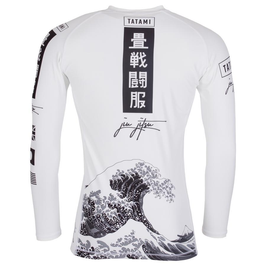 Tatami Original Rash Guard Short Sleeve Black White BJJ No-Gi Jiu Jitsu MMA Gym