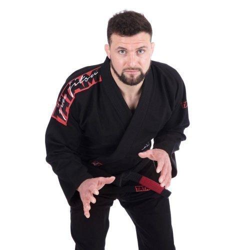 Tatami Red Bar Black BJJ Gi