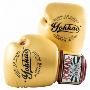 YOKKAO Vintage Boxing Gloves Gold