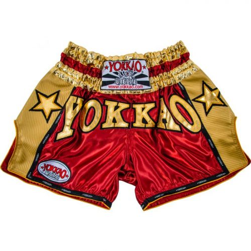 YOKKAO Vintage Carbon Shorts Red Gold