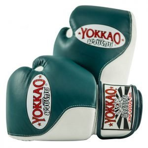 YOKKAO Boxing Gloves Double Impact Petroleum White