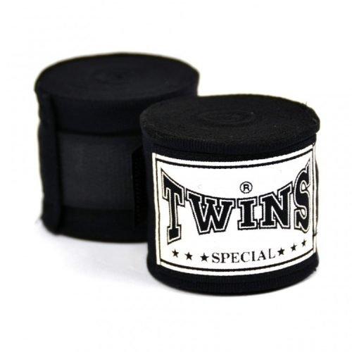 CH5 Twins 5m Black Premium Elastic Handwraps