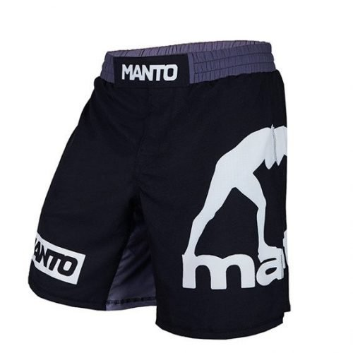 Manto Logo Fight Shorts Black White