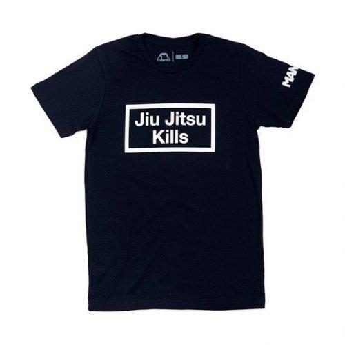 Manto Jiu Jitsu KILLS T-Shirt Black - brazilian jiu-jitsu t-shirts