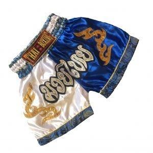 Muay Thai Classic Shorts Blue White Kids