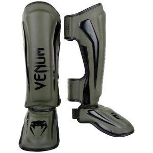 Venum Elite Shin Guards Khaki Black