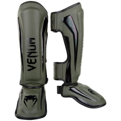 Venum Elite Shin Guards Khaki Black