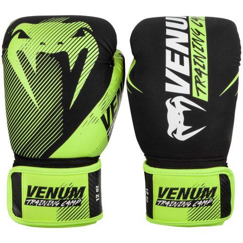 Venum Boxing Gloves Training Camp 2.0 Black Neo Yellow