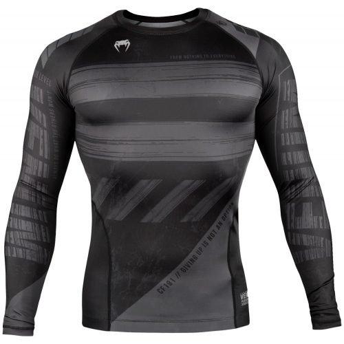 Venum AMRAP Rash Guard Compression Long Sleeve Black Grey